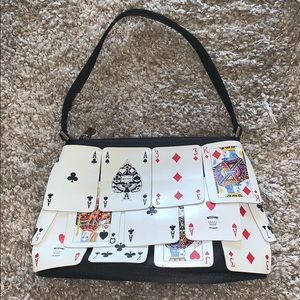 MOSCHINO JEANS DECK OF CARDS HANDBAG - VINTAGE